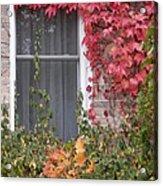 Covered Window Acrylic Print by Margaret McDermott