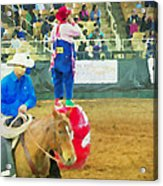Cowboy And The Clown Acrylic Print