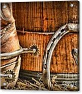 Cowboy Boots And Spurs Acrylic Print by Paul Ward