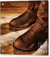 Cowboy Boots On Saloon Floor Acrylic Print