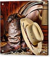 Cowboy Gear Acrylic Print by Olivier Le Queinec