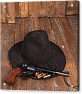Cowboy Hat And Gun Acrylic Print