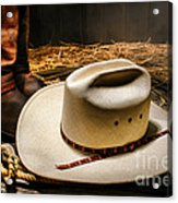 Cowboy Hat On Lasso Acrylic Print