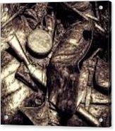 Cowboy In Bronze Acrylic Print