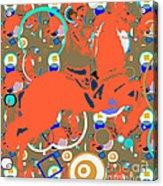 Cowboy Kaleidoscope Acrylic Print