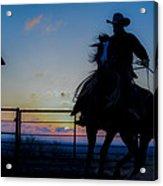Cowboy Pirouette Acrylic Print