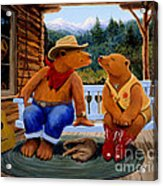 Cowboy Romance Acrylic Print