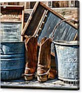 Cowboys Have Laundry Too Acrylic Print
