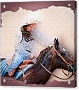 Cowgirl Barrel Racing 2 Acrylic Print