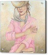 Cowgirl Acrylic Print by Judith Grzimek