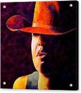 Cowgirl Acrylic Print by Robert Hooper