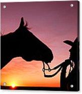 Cowgirl Sunset Acrylic Print