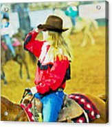 Cowgirl Waiting Acrylic Print