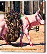 Cow Parade N Y C 2000 - Prima Cowlerina Acrylic Print