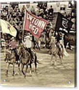 Cowtown Grand Entry Acrylic Print