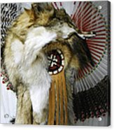 Coyote Headdress 1 Acrylic Print