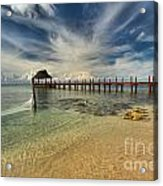 Cozumel Beach Paradise Acrylic Print