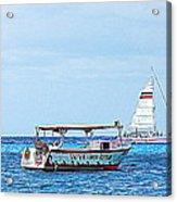 Cozumel Excursion Boats Acrylic Print