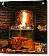 Cozy By The Fire Acrylic Print