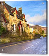 Cozy Cottage In A Scottish Village Acrylic Print by Mark E Tisdale