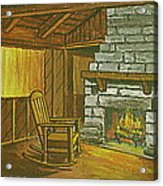 Cozy Fireplace At Lake Hope Ohio Acrylic Print