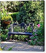 Cozy Southern Garden Bench Acrylic Print