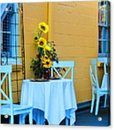 Cozy Table For Two Acrylic Print