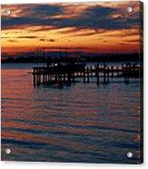 Crab Alley Sunset Acrylic Print