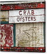 Crab And Oysters Acrylic Print