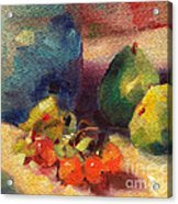 Crab Apples And Pears Acrylic Print