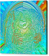 Crab In Plastic Wrap Abstract Acrylic Print