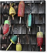 Crab Pot Floats Acrylic Print