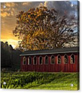 Crack Of Dawn Acrylic Print by Debra and Dave Vanderlaan