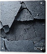 Cracked Asphalt Macro Acrylic Print