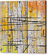Cracked Wood Background Acrylic Print by Carlos Caetano