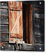 Cracker House Window Acrylic Print
