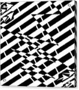 Cracks In The Pavement Maze  Acrylic Print