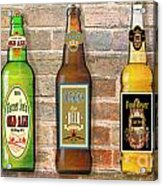 Craft Beer Collection On Brick Acrylic Print