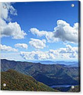 Craggy Gardens Draped In Clouds Acrylic Print