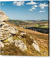Crags Over Rothbury Acrylic Print