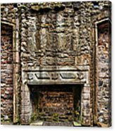 Craigsmillar Castle Fireplace Acrylic Print