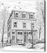 Cranberry's Cafe Circa 1884 Acrylic Print