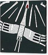 Crane In Flight Acrylic Print