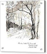 Crane Mtn Trailhead Acrylic Print