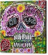 Craneo Rosado De Los Muertos Acrylic Print