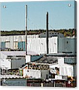 Cranes At Metal Factory, Bath Acrylic Print