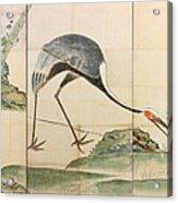Cranes Pines And Bamboo Acrylic Print