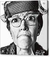 Cranky Old Lady Acrylic Print