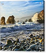 Crash - Waves From Soberanes Point In Garrapata State Park In California. Acrylic Print