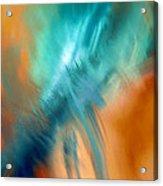 Crashing At Sea Abstract Painting 4 Acrylic Print
